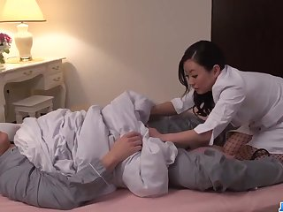 shino izumi strips naked to delight with a big prick - asian delight