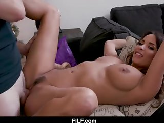 StepMom Anissa Kate Chritsmas Dollop With StepSon - FILF