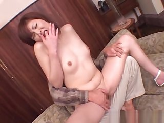 Sweet Japanese skunk fingered and ass licked